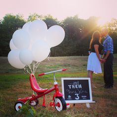 Baby Announcement Photography   Bicycle