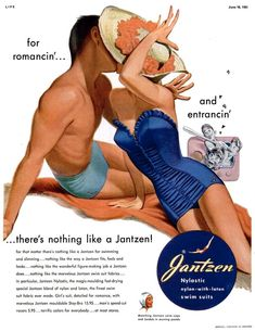 Advertisement for Jantzen, from Life magazine, June 1951Illustration: Pete Hawley  Source: Today's Inspiration