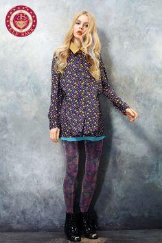 Womens Contrast Color Mock Pocket Dress