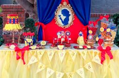SNOW White Birthday Party Snow White Party by KROWNKREATIONS