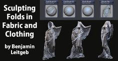 Sculpting-Folds-in-Fabric-and-Clothing-by-Benjamin-Leitgeb