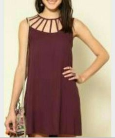 #vestido #tiras #vinho
