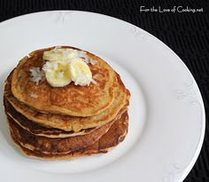 Banana Coconut Pecan Pancakes make a wonderful and delicious breakfast. Pecan Pancakes, Coconut Pancakes, Coconut Pecan, Banana Coconut, What's For Breakfast, Breakfast Recipes, Cooking Bananas, Strawberry Pancakes, Breakfast Specials