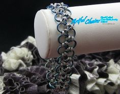 Two Bracelets in one!  Reversible Chainmaille Japanese Lace bracelet handcrafted by Mary (10031)