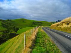 Taihape - Napier Road, New Zealand (North Island). . Just travelled this road April 2014, these are the 'gentle hills' - thoroughly enjoyed the route from Napier to Taihape (it would pay to fuel up first). . .amazing backdrops.