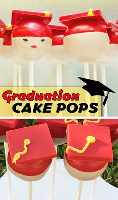 Fun and easy graduation treat... anyone can make these! Learn step-by-step how to make graduation hat cake pops.