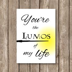 printable valentine card, Harry Potter, lumos of my life, watercolor technique, computer design by OhIneedthis on Etsy https://www.etsy.com/listing/241553941/printable-valentine-card-harry-potter
