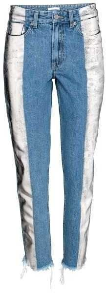 Slim Metallic-print Jeans by H&M on ShopStyle.