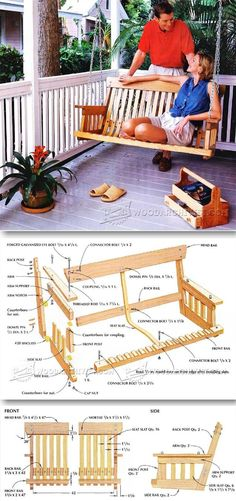 DIY Porch Swing - Outdoor Furniture Plans & Projects | WoodArchivist.com