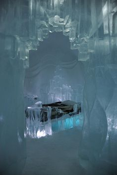 The Queen of Ice Suite at Jukkasjärvi Ice Hotel, Kiruna, Sweden