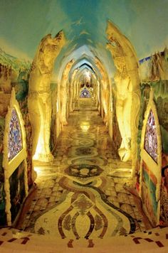 the secret, underground, Temples of Damanhur, Turin, Italy | Created by the Federation of Damanhur, the temples became public knowledge in 1992 when their  origins were disclosed. Also called, the Temples of Humankind, they began in 1978 under complete secrecy, founded by Italian, Oberto Airaudi.
