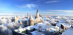 Tallinn, Estonia Want to enjoy the glory of this stuck-in-time medieval town? Better make it snappy: Estonia gets only half an hour of sunshine a day during winter months.