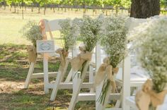 Decorate your aisles with sprays of baby's breath