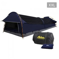 Deluxe King Single Camping Swag - Navy