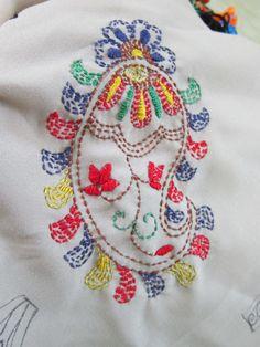 Kantha stitch sample