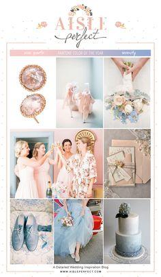 Rose Quartz and Serenity #Pantone Inspired Wedding Mood Board.