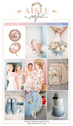 Rose Quartz and Serenity #Pantone Inspired Wedding Mood Board.