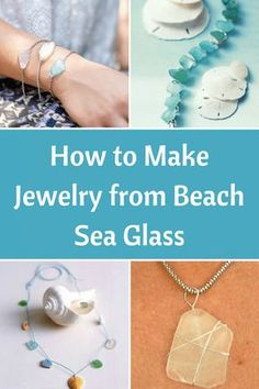 The same way you can Make Seashell Jewelry with a precious shell or a shell collection, hand picked from the beach, you can turn Sea Glass pieces into gorgeous bracelets glass crafts for kids How to Make Jewelry from Beach Sea Glass - Beach Bliss Living Seashell Jewelry, Seashell Crafts, Beach Jewelry, Sea Glass Jewelry, Beach Crafts, Sea Glass Beach, Sea Glass Art, Fused Glass, Do It Yourself Jewelry