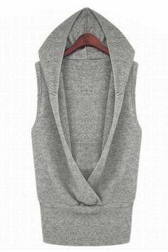 grey cozy vest