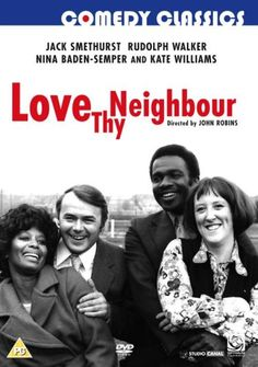 Love Thy Neighbour [DVD] politically incorrect tale of bigotries and one-upmanship is sprinkled with ignorant comments and insults that are frequently more laughable than offensive when viewed today. 1970s Childhood, My Childhood Memories, British Comedy, British Humour, British Sitcoms, Love Thy Neighbor, Comedy Tv, Old Tv Shows, Vintage Tv
