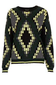 Knitted Jacquard Jumper - Knitwear  - Clothing