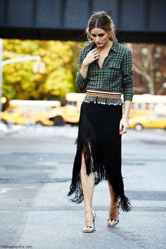 Black Fringed Skirt