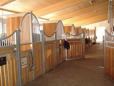 Internal stabling / horse barn, Germany by Hau Stallsysteme