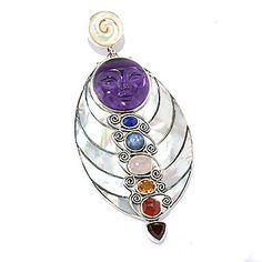 Offerings Sterling Silver Mother-of-Pearl & Multi Gemstone Goddess Enhancer - 141-917  Retail Value: $428.26 ShopHQ Price: $325.00 Preferred Price: $295.45    Save: $29.55 (9% off) or  5 ValuePay:  $59.09 Shipping & Handling: $7.99