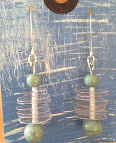 Up-Cycled Plastic Bottle Earrings by NCSustainableStyle on Etsy