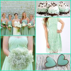 Love the mint sooo much and those earrings for bridesmaids