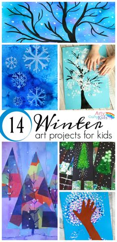 16 Winter Art Projects for Kids. A selection of gorgous snowy Winter art project… 16 Winter Art Projects for Kids. A selection of gorgous snowy Winter art projects for kids using various process art tehniques to keep the kids busy this Winter. Winter Art Projects, Winter Crafts For Kids, Winter Fun, Winter Theme, Projects For Kids, Kids Crafts, Arts And Crafts, Project Projects, Christmas Art For Kids
