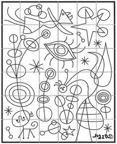 Joan Miro (1893-1983) was a Spanish artist whose work is often associated with Surrealism even though he never joined or followed any group style. This mural is a composite of his style of art. Note: I used my favorite Portfolio brand oil pastels in my shown sample. PDF FILE INCLUDES: 36 Coloring Pages (8.5″ x 11″) … Read More