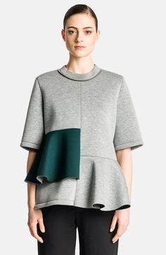 Marni Neoprene Peplum Sweatshirt available at #Nordstrom