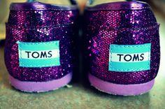 Sparkly Purple Toms