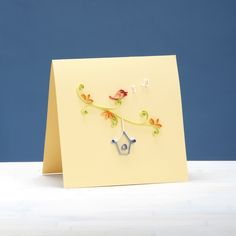 Pretty Quilled Cards Project Excerpt: Songbird Greeting