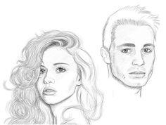 Jackson Whittemore/Lydia Martin (Colton Haynes, Holland Roden) Teen Wolf Fan Art