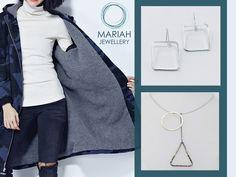 """Η """"γεωμετρία"""" που θα σας μαγέψει!!💙💜  Σκουλαρίκια AF3894 19,90€  Kολιέ A3992 28,90€  #mariahjewellery #mariah #jewellery #fashionstories #shopponline #shoppingtherapy #buyonline #shopthelook"""