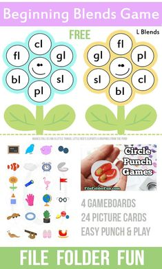 """""""Ll"""" Blends File Folder Game (free; from The Crafty Classroom)"""