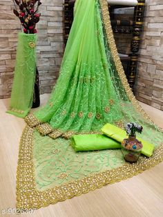 Checkout this latest Sarees Product Name: *Jivika Refined Net Sarees* Pattern: Embroidered Sizes:  Free Size Country of Origin: India Easy Returns Available In Case Of Any Issue   Catalog Rating: ★4 (19666)  Catalog Name: Jivika Refined Net Sarees CatalogID_779255 C74-SC1004 Code: 488-9026307-2652