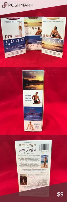 Living Yoga AM & PM YOGA For Beginners VHS 2 Box Living Yoga AM & PM YOGA For Beginners VHS 2 Box Set Rodney Yee Patricia Walden Other