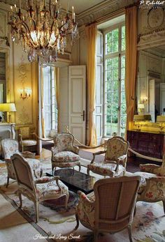 Hotel de Noirmoutier, near Sens,France, Master suites Country House Interior, French Country House, Traditional Interior, Classic Interior, Parisian Apartment, Luxury Rooms, Interior Decorating, Interior Design, French Furniture