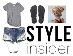 """""""Untitled #38"""" by regaladolr ❤ liked on Polyvore featuring WithChic, Havaianas, contestentry and styleinsider"""