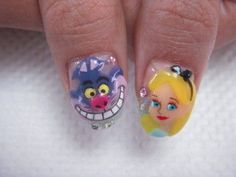 Alice in Wonderland Nail Art | Nail art en folie