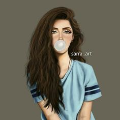 girly et cartoonish image sur We Heart It Girly M, Girly Girl, Beautiful Girl Drawing, Cute Girl Drawing, Girl Drawing Pictures, Brunette Girls, Sarra Art, Chica Cool, Girly Drawings