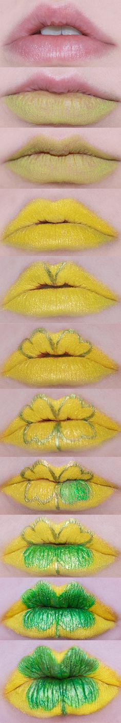 St patrick day lips..... I'm doing this