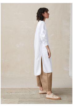 Mode Outfits, Casual Outfits, Fashion Outfits, Long White Shirt Outfit, Latest Fashion For Women, Womens Fashion, Hijab Style, White Shirts, Minimal Fashion