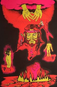 Why Vintage Blacklight Vintage Poster Psychedelic 1970 Anti-war Peace Politics #Vintage