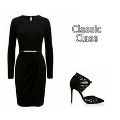 Classic Class A woman always needs that sexy yet classy black little number. I love this dress because it will flaunt your body and. Pop Collection, Forever New, New Outfits, Dresses For Work, Classy, Sexy, Inspiration, Black, Women