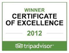 TripAdvisor congratulates Henderson Park Inn on earning the prestigious 2012 Certificate of Excellence award.