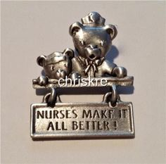 Nursing Gift Pewter JJ Jonet Nurse Nurses RN LPN Graduation Pin Brooch Made USA #JJJonet